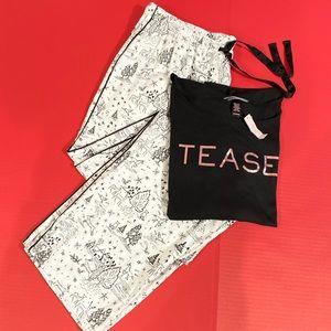 Victorias Secret Flannel pants soft top pajama set